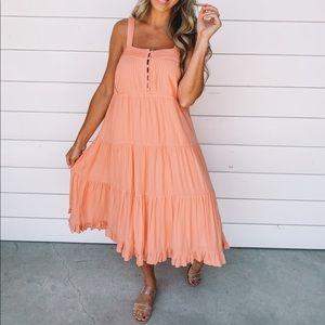 Olivia Tank Midi Dress-Sunset